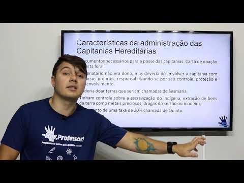 O sistema de Capitanias Hereditárias - PM PB  - Prof. Gilrllan Thalys