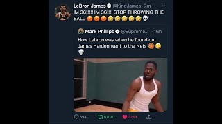 LEBRON JUST TWEETED ABOUT US!!!!!