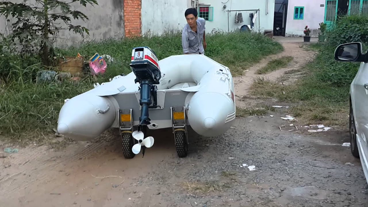 Wheels For Inflatable Boat Youtube