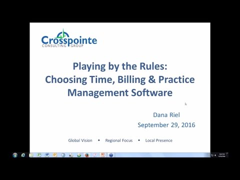Playing By The Rules: Choosing Time, Billing & Practice Management Software | CosmoLex Webinar