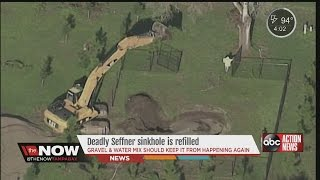 Deadly Seffner sinkhole plugged for a second time