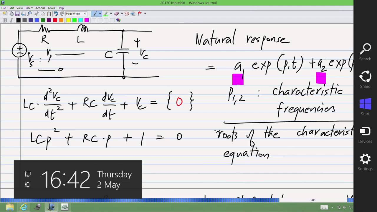 Mod-01 Lec-21 Sinusoidal steady state response of RC and RLC circuits