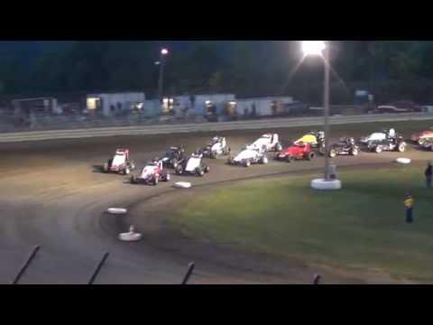 Gas City Speedway Sprintcar Feature 8-1-14 (Chad Boespflug)