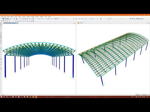 Sap2000 modeling analysis and design of space truss for Barrel roof trusses