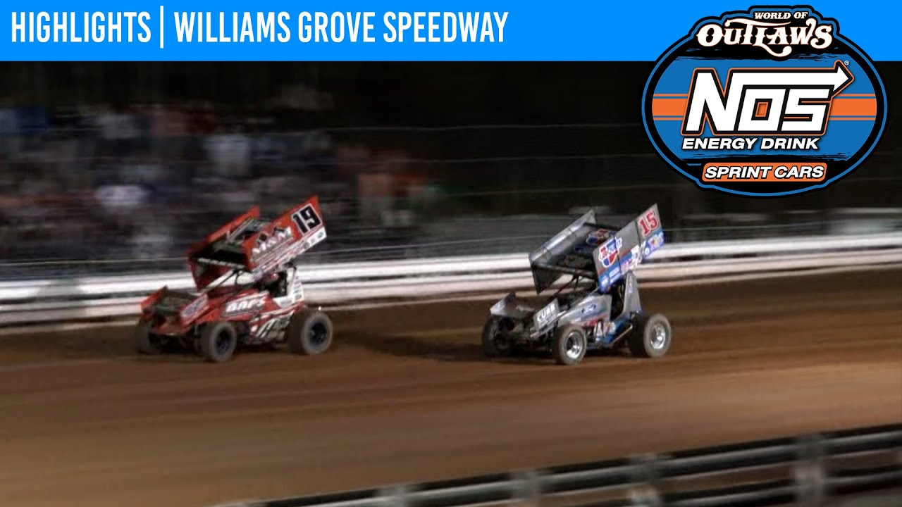 World of Outlaws NOS Energy Drink Sprint Cars Williams Grove Speedway, July 24, 2021   HIGHLIGHTS