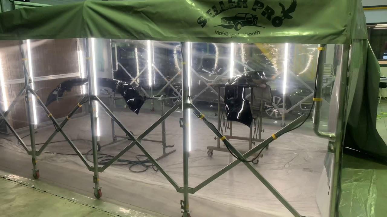Cabine peinture rétractable démontable paint booth