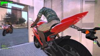 ArmA 3 Riding a motorcycle in a elevator