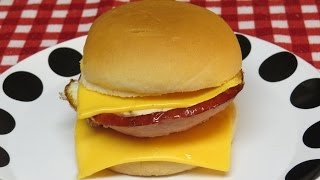 Ham And Egg Breakfast Sandwich With Cheese Cooked In The Toaster Oven-easy Cooking