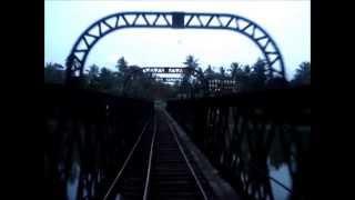 sri lanka railways class m5c 771 crossing the katugastota bridge