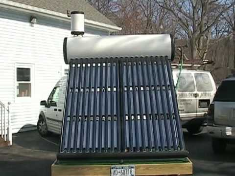 Solar Hot Water Heater Thermosiphon Diy Youtube