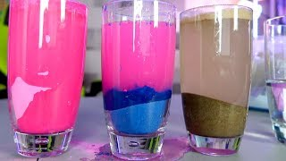 HOW TO MAKE A COLOR CHANGING BEACH! (Back To School Science Experiment)