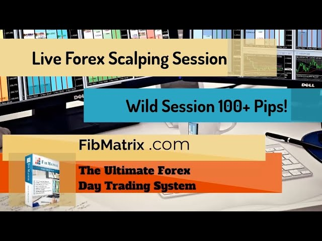 Live Forex Scalping Room Trades Profit Over 100 Pips! FibMatrix Forex Scalping Software