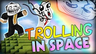 Trolling IN SPACE WITH NO GRAVITY - Minecraft Modded Parkour Map (Starminer Mod)