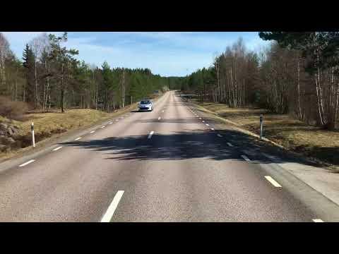 Von der Schwedischen Grenze Richtung Örebro   E18   Schweden