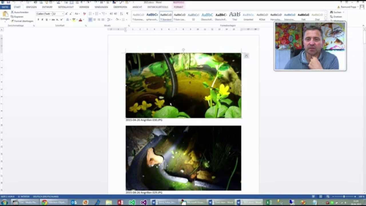 Word Vorlage : Fotos und Bilder automatisch einfügen - YouTube