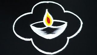 Deepam Rangoli Designs By 5 Dots Latest Kolam Muggulu Videos Well Rangoli Collections