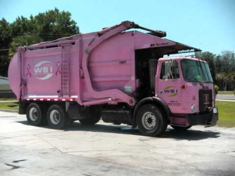 Pink Wsi Mcneilus Autocar Front Loader Pics In Gibsonton