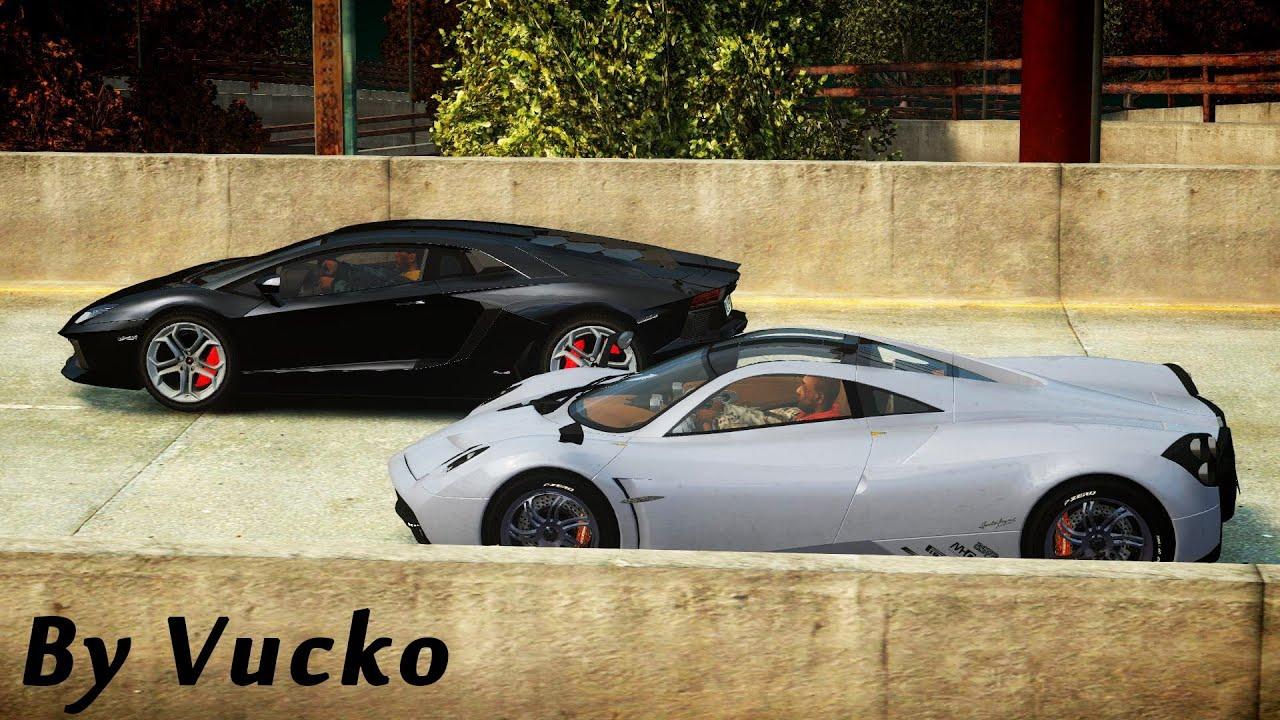 GTA IV - Supercar Drag [Pagani Huayra vs Lamborghini Aventador ...