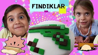 Fındıklar!!! Mikailin Doğum günü için Minecraft pastası