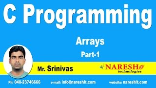 C Array - Part 1 | C Language Tutorial | Mr. Srinivas