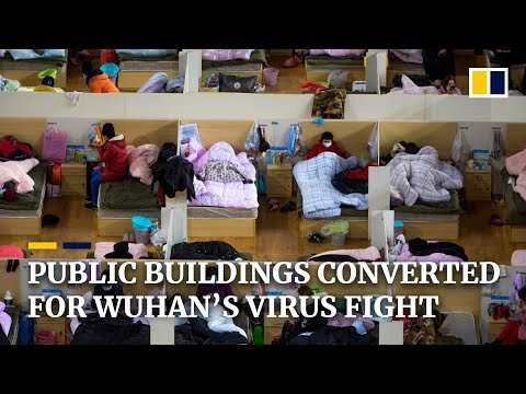 Public Buildings Converted Into Medical Facilities For Coronavirus Patients In Chinese City Of Wuhan