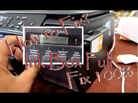 how to fix inkbox full dcp-t300 brother