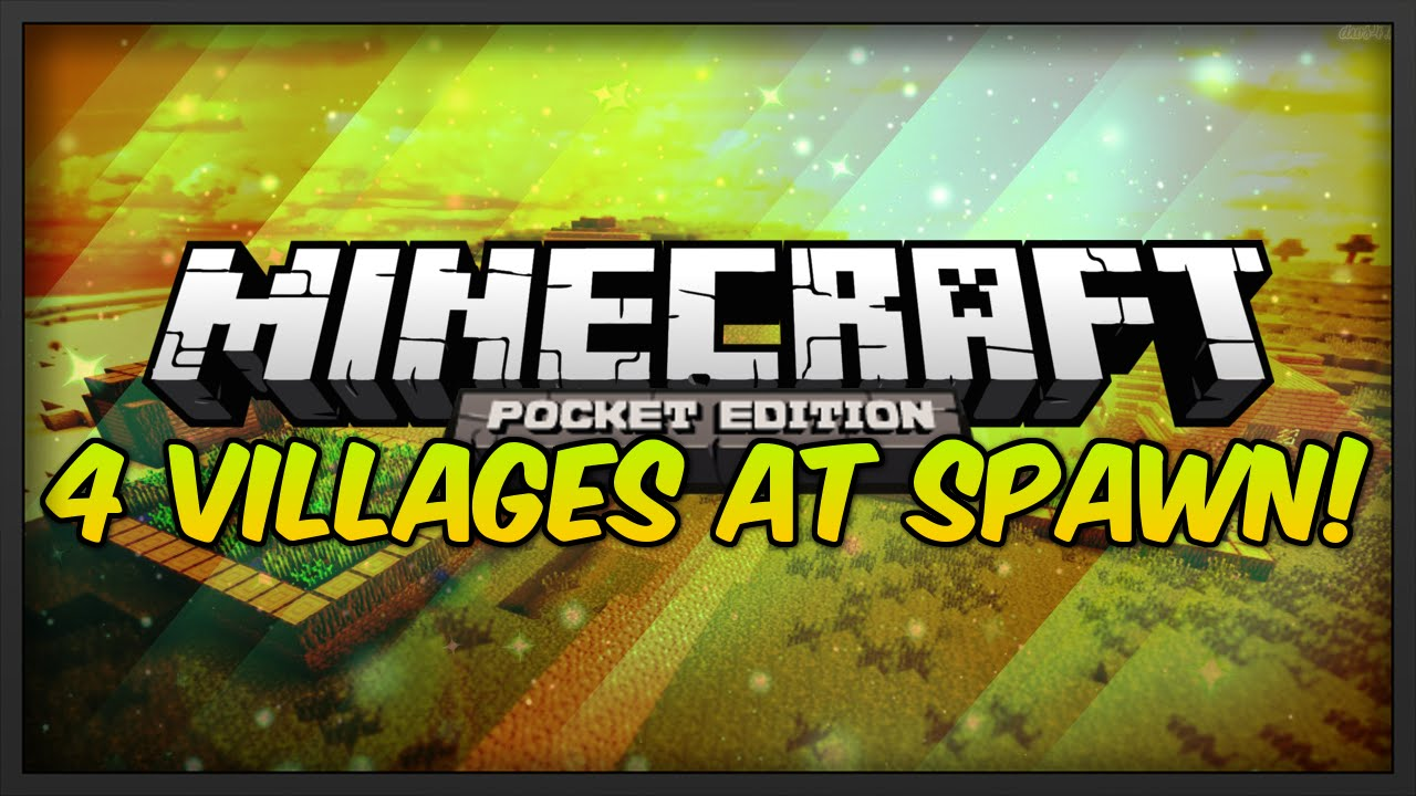 4 Villages At Spawn Quadruple Village Seed For Minecraft Pe Three Way Switch Pocket Edition
