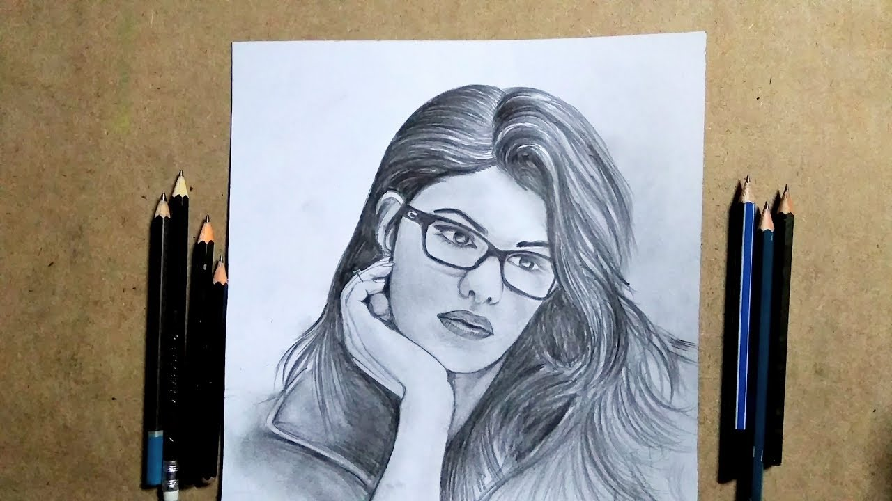 Drawing race 3 cutest jacqueline fernandez step by step tips pencil sketch