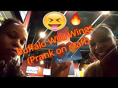 Buffalo Wild Wings ( Prank on Server ) with my wife! - YouTube