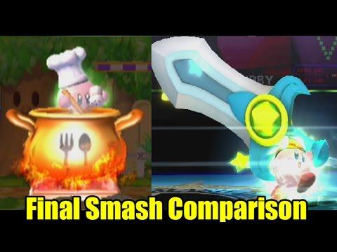 Final Smash Comparison: Super Smash Bros Wii U/Brawl 1080p HD (Graphics, Voice, Final Smash Changes)