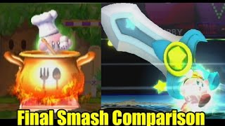 Final Smash Comparison: Super Smash Bros Wii U/Brawl 1080p HD (Graphics, Voice, Final Smash Changes)