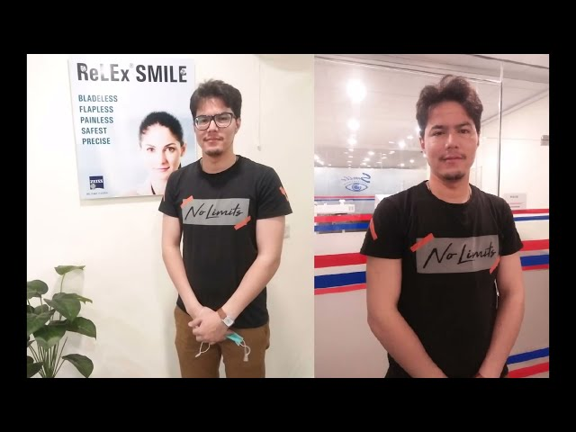 Relex Smile Review of Fawad Hussain from Quetta at SMILE Laser Eye Centre Multan
