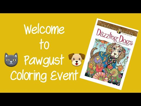 Creative Haven Dazzling Dogs Coloring Book With Markers And Pens