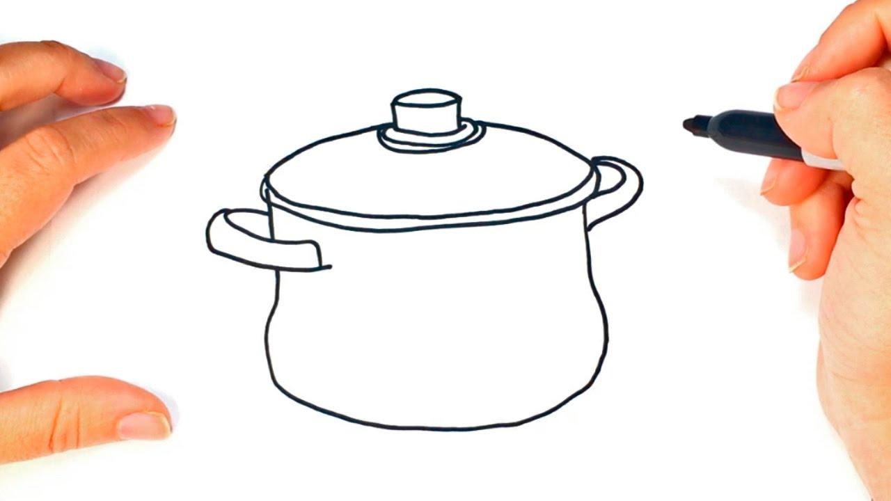C mo dibujar una olla paso a paso dibujo f cil de olla for Facil de cocinar