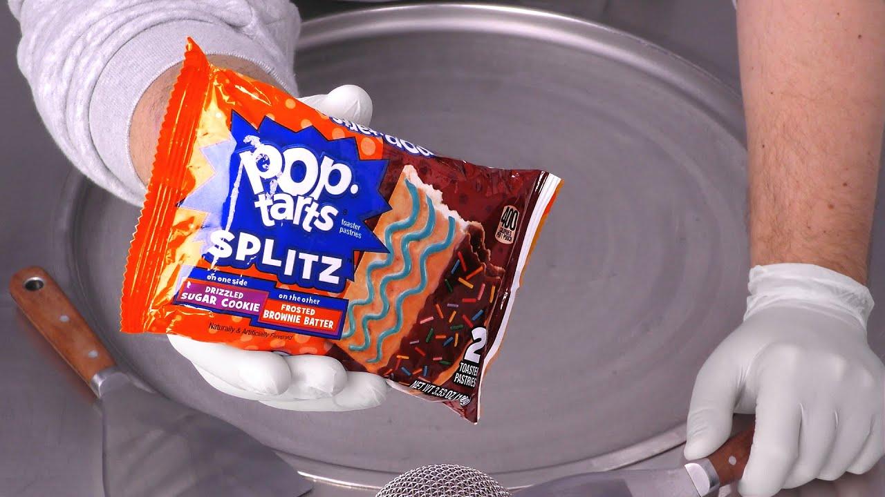 Pop-Tarts ASMR | how to make Pop Tarts to Ice Cream - oddly satisfying Ice Cream Rolls - no talking