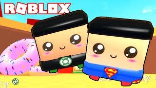 PETS SUPERHEROE AND FOOD AREA! - Roblox Paper Ball Simulator