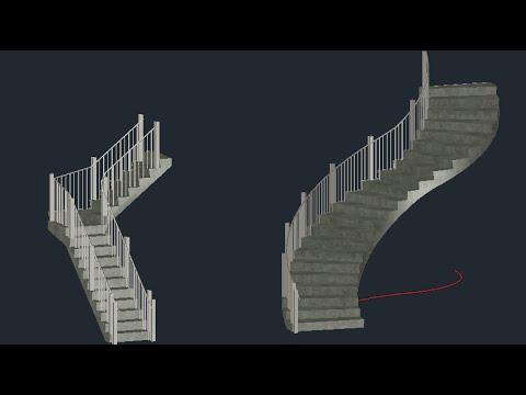 Crear escaleras con autocad architecture youtube for Escaleras 2 tramos