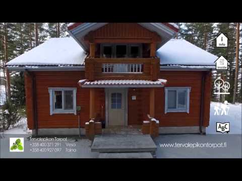 Tainan Tupa cottage in Finland. Winter holidays in Finland.