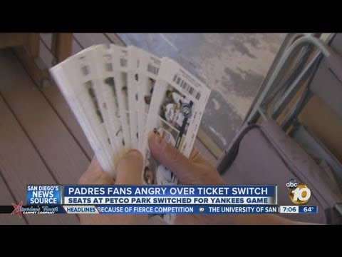 Padres fans angry about ticket switch: Seats at Petco Park moved for Yankees series