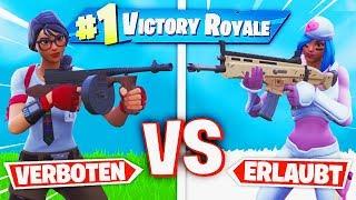 ERLAUBTE vs. VERBOTENE WAFFEN in Fortnite Battle Royale!