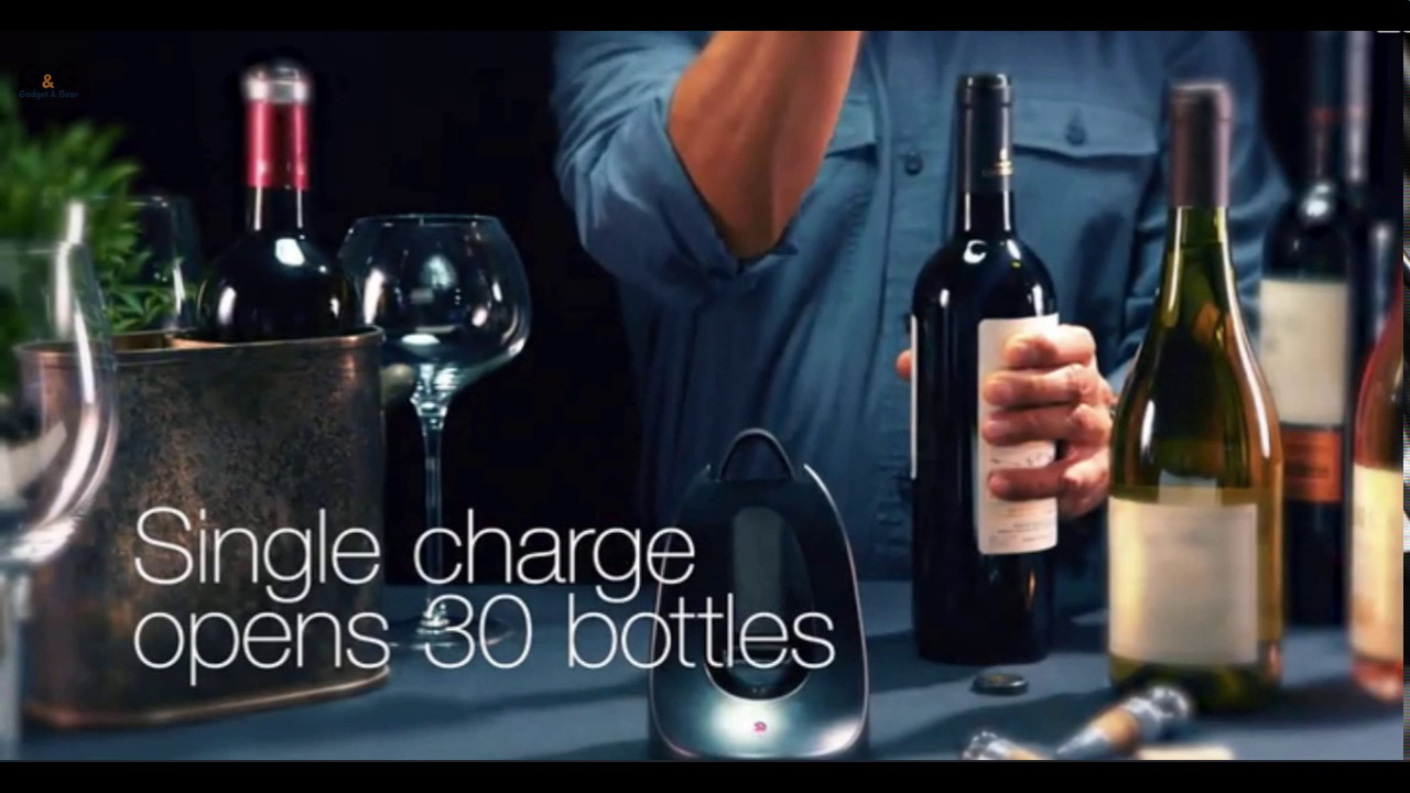 electric wine bottle opener by oster youtube. Black Bedroom Furniture Sets. Home Design Ideas