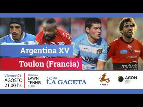 Argentina XV vs. Toulon en Tucumán Lawn Tennis