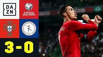 Ronaldo trifft: Portugal steht vor EM-Qualifikation: Portugal - Luxemburg 3:0 | EM-Quali| DAZN