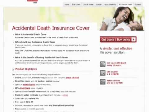 Life Insurance and Accidental Death Insurance