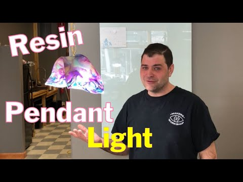 Making a Resin Pendant Light // How To Build