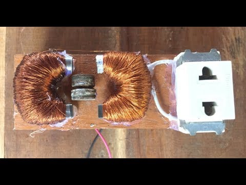 Free Energy , 200V AC Generator, Can Charge The Phone