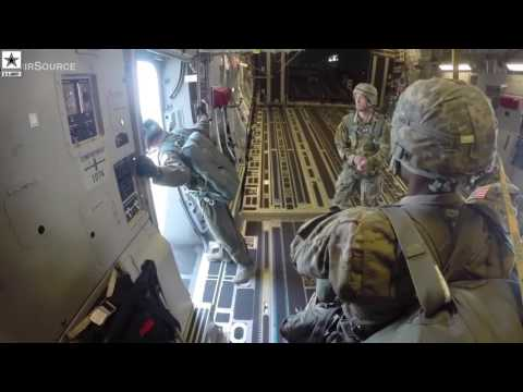 Military | 82nd Airborne Division Paratroopers Mass Tac Jump