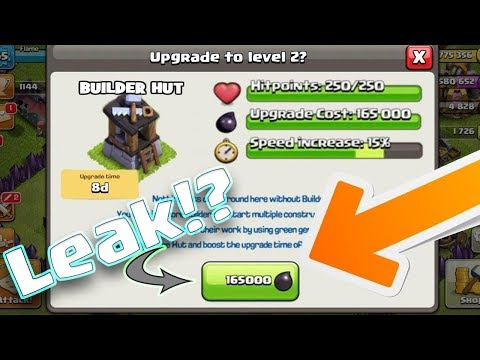 Wow Finally Builder Hut Upgrade Level 2 Update Is Coming September 2017 || Clash Of Clans Concept