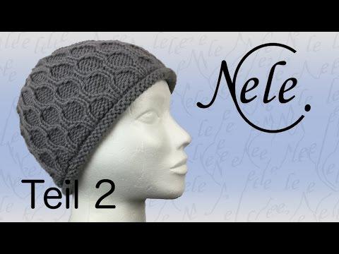 Mütze stricken,Teil 2 Wabenmuster, die Abnahmen, DIY – Anleitung by Nele C.