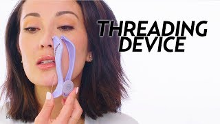 I Tried an At Home Threading Device! | Beauty with Susan Yara